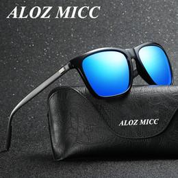 9673a5a3ee45e ALOZ MICC Marca Designer de Alumínio dos homens Polarizados Óculos De Sol  Do Vintage de Alta Qualidade Óculos de Sol Unisex Óculos de Condução Óculos  UV400 ...