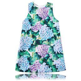 Wholesale Casual Dresses For Autumn - Princess Dress 2017 Designer Vestido Flower Girl Dress Kids Clothing Printed Robe Fille Costume for Kids Clothes