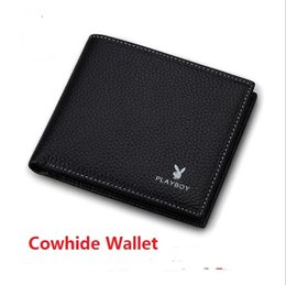 Wholesale Clutch Head - Fashion Male Genuine Leather Luxury Wallet Head Layer Cowhide Short Design Card Holder Pocket Fashion Purse Wallets For Men Business Wallet