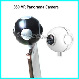 Wholesale New Video Cameras - New Dual HD 360 Degree Spherical Camera VR Content Pano Live1 Panorama Panoramic Cameras Portable Pocket Mini DV Support Video Music Android