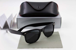Wholesale Retro Sunglasses Uv Protection - High quality Brand Designer Fashion Men Sunglasses UV Protection Outdoor Sport Vintage Women Sun glasses Retro Eyewear With box and cases