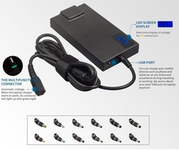 Wholesale Slim Port Adapter - Wholesale- New Arrivals 14 tips Conversion 90W Slim Universal Laptop AC Adapter Charger With 5V 2A USB Port