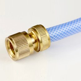 Wholesale Hose Pipe Fitting - New Hot Copper Tube Snap Adaptor Fitting Garden Outdoor Metal Threaded Hose Water Pipe Connector NB0185