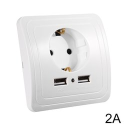 Adaptador de cargador de pared de 2.0 A Enchufe de pared Enchufe de pared Toma de corriente en el panel Puertos USB dobles HS915 + desde fabricantes