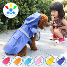 Wholesale Rain Puppy - Breathable Colorful Dog Rainwear Multi Function Easy To Use Raincoat Adjustable Puppy Lightweight Rain Jacket Poncho With Strip 36ty B R