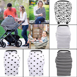 Wholesale Wholesale Car Canopy - INS Baby Car Seat Canopy Cover Breastfeeding Nursing Scarf Cover Up Apron Shoping Cart Infant Stroller Sleep By Canopy OOA2319