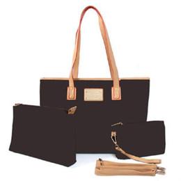 2019 bolso multi bolsillo algodon Neverful MM mujeres clásicas bolsos de mano de gran capacidad monedero del embrague de alta calidad bolsas feminina billetera 3 UNIDS / Set