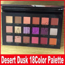 Wholesale 18 Color Eyeshadow - Newest Beauty Makeup Desert Dusk Palette Eyeshadow Palette 18 Color Shimmer Matte Eye Shadow Cosmetics Palette DHL Free