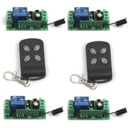 Wholesale Automatic Door Remote - Wholesale- DC 12V 1CH Wireless Remote Control Switch System, Gate Door Opener Operator Remote Control Relay Switch, Automatic Doors