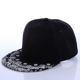 11537d75685 Wholesale- Baseball Cap - New Arrival Cashew Flower Hat Tide Male Hip-hop  Flat Along The Cap Baseball Cap Hip-hop Hat Stage  1857668