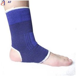 Wholesale Fish Support - Wholesale- AT Fish SunDay New Elastic Ankle Brace Support Band Sports Gym Protects Therapy Blue Levert Dropship Dec15