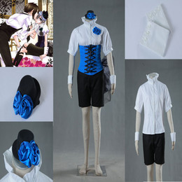 Wholesale Butler Outfit - Pretty Suit COS Black Butler Ciel Uinform Cosplay Costume Women's Outfit Custom Made Any Size High Quality Full Suit