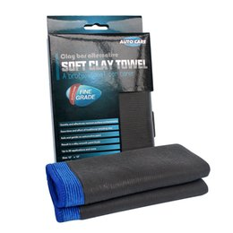 Wholesale Wholesale Car Cleaning Clay - Wholesale- Auto Care Fine Grade Heavy Duty Car Magic Clay Cloth Clay towel Shine Microfiber Cleaning Clay Cloth Detailing & Polishing Job
