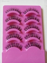 Wholesale Clear Eyelash Band - Wholesale-2015 New exquisite handmade thick Natural False Eyelashes Invisible Clear Band 5 Pairs Eyelash Sets