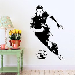 Wholesale Decorative Wall Vinyl - Handmade Creative Graphic vinyl wall sticker of Soccer Star for kids room decorative wall decal mural vinilos pegatinas de pared 9409