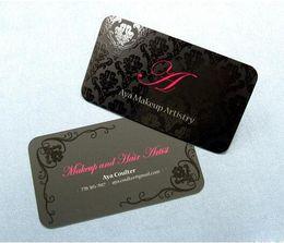 Wholesale Round Corner Paper - Custom Spot UV business card rounded corners matt finish High quality 350gsm coated paper