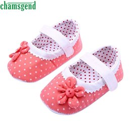 Wholesale Baby Best Sellers - Wholesale- CHAMSGEND Best Seller Summer Baby Girls Flower Shoes Soft Sole Toddler PU Leather Crib Shoes S35