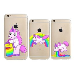 Pour iphone 7 Case Cartoon Licorne Farting Arc-En-Cas Monocerus Fart Horse Baby Clear Housse TPU souple pour iphone 7 6 6s plus SE 5s Nouveau ? partir de fabricateur