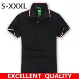 Wholesale Men S Brand Golf Polo - New 2017 Men's Brand Polo Shirt For Men Designer Polos Men Cotton Short Sleeve shirt Brands jerseys golf tennis Free Shipping