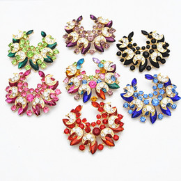 Wholesale Hijab Selling - Fantastic Crystal Gold Alloy Women Brooch For Wedding Hot Selling Popular Lady Hijab Wear Pins Good Quality Jewelry Broaches