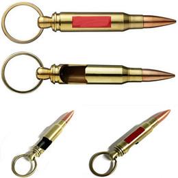 Wholesale Gifts Novelty Keys - Fashion Bullet Key Novelty Bottle Opener Buckle Key Rings Bottle Opener Gift For Home Bar Accessories