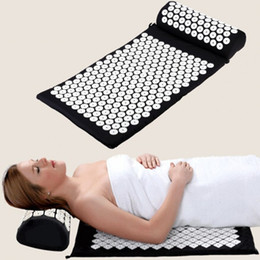 Wholesale Pink Massager - Wholesale-YOGA Massager Mat Acupuncture Health Care Pain Relief Cushion for Shakti Mat acupressure mat yoga Massager