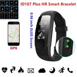 Wholesale Apple Multi Monitor - ID107 Plus HR Smart Band Bluetooth 4.0 Answer Call Smart Bracelet Heart Rate Sleep Monitor multi sports 5 displays