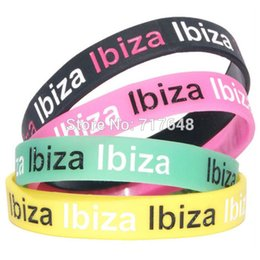 Wholesale Holiday Express - Wholesale- 200pcs a lot IBIZA PARTY HOLIDAY wristband silicone bracelets rubber cuff wrist bands bangle free shipping by FEDEX express