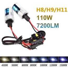 Wholesale H8 12v 55w - 2pcs 12V H8 55W xenon hid light single beam car HID Xenon Lamp 6000K 8000K 10000K Headlight