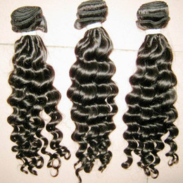 Wholesale Unprocessed Deep Curl Malaysian - Goddess Gorgeous 300g Deep Curly virgin Malaysian Unprocessed Hair Extension Top 7A Jerry Curls Thick Hair Bundles DHgate