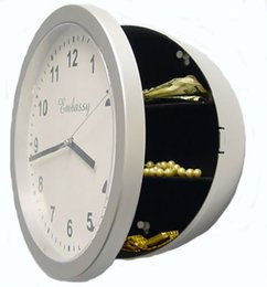Wholesale Mechanical Safe Box - Creative Safe Box Clock Jewelry Money Storage Box Travel Safe Wall Clock Bell Clock