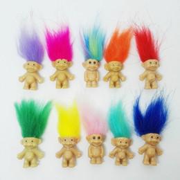 Mama spielzeug online-Freies Verschiffen 5pcs / lot bunte Haarmini Puppe spielt nette Parteibevorzugungen Familienmitglieder Vati-Mama-Baby-Mädchen-Verdammungs-Spielzeug-Geschenke