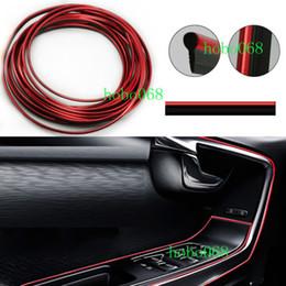 Innenverchromung online-100 teile / los 5 meter Auto Auto Chrom Dekorative Schutzleiste Universal Streifen Rot DIY fall Innen Zubehör
