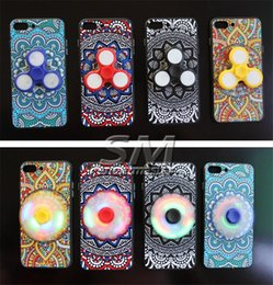 Wholesale Wholesale Led Iphone Covers - New Arrival Hand Spinner Case Led Fidget Spinner Phone Case Cover for iPhone 7 Plus 6s Plus Samsung S8 with retail package