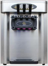 25 L / H comercial soft serve máquina de helado tres sabores máquina de helado suave mesa modelo envío libre 110 v / 220 v desde fabricantes