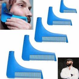 Wholesale Men Hair Beard Trimmer - 10 Colors Beard Bro Beard Shaping Tool for Perfect Lines Hair Trimmer for Men Trim Template Hair Cut Gentleman Modelling Comb 200pcs