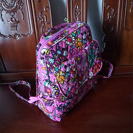 Wholesale Flower Laptop Bags - VB Small mickey mouse backpack campus backpack Cotton Flower School Bag Campus Laptop Backpack School Bag Travel College