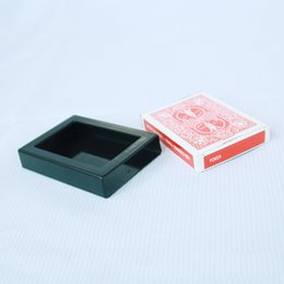 Wholesale Toys Trick Box - factory price Vanishing Disappearing Deck Card Box Case Close Up Street Magic Trick Illusion Christmas Halloween jok gift
