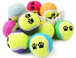 Wholesale Tennis Candy - 150pcs Candy color Dog Toy Tennis Balls Run Catch Throw Play Toy Chew Toys Free shipping