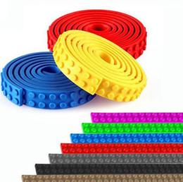 Wholesale Locking Block - Nimuno Loops Toy Plastic Tape locks Base Plate Building Blocks DIY Baseplate Sticky Backing Construction Blocks DIY Toy KKA2203