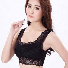 Wholesale Nylon Wire Wrap - Ms. Lace wrapped chest No steel ring bras Ms. thin section sexy yoga vest