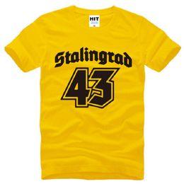 Ii guerra online-New Designer Stalingrad 1943 T-Shirt da Uomo in Cotone Manica Corta World War II Memorial T-Shirt da Uomo Moda commemorare Tops Tees