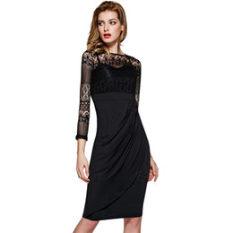 Wholesale working girls - Hot Sale Wholesale Womans Clothes 2017 New Arrivals Long Sleeve Black Dresses Women Girls Casual Outfit