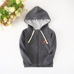 Wholesale Shirts For Boys Jacket - Wholesale- 2016 New Children's Clothes For Boys Thicken Hoodie Biker Jacket And Sweatshirts For Winter Base Shirt