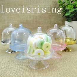 Wholesale Wedding Tables Decor - Lowest Price--20PCS Acrylic Clear Mini Cake Stand Wedding Party Shower Baby Birthday Sweet Table Reception Decor Ideas Souvenirs Supplies