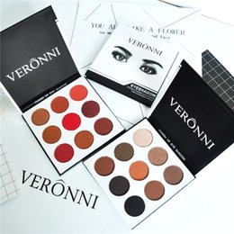 Wholesale Easy Tone - Original Brand VERONNI Cosmetic Eyes Makeup Palette Eyeshadow Earth Tone Makeup Plate Eyeshadow Palettes 9 Colors Eyeshadow Palette