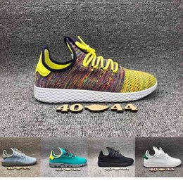 Wholesale Human 3d - New Arrival Stan Smith Pharrell Williams Tennis HU 3D Primeknit Running Shoes Fashion Women Men PW Human Race NMD Sneakers Size 40-44