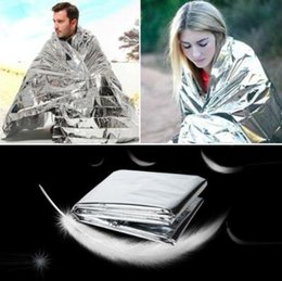 Wholesale Emergency Insulation Blanket - 210*160cm PET Aluminizer Emergency Blanket Outdoor Insulation Blanket Waterproof Emergency Survival Insulation Foil Blankets CCA6703 500pcs