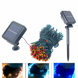 Wholesale Curtain Colors - New LED Solar string lights 22M 200 LEDs 7 colors 8 Modes Solar power outdoor waterproof Solar string Lights For Garden Christmas decor