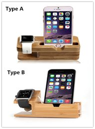 Wholesale Top Iphone Charging Dock - TOP Quality Wood Charging Stands mounting Bracket Docking Charge Station for iphone 6 6 plus 5S and Apple Watch iwatch 38mm 42mm